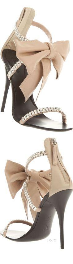 GIUSEPPE ZANOTTI DESIGN Embellished Nude Sandal