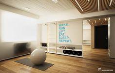 Prywatna sala fitness (do Bartek Włodarczyk Architekt)