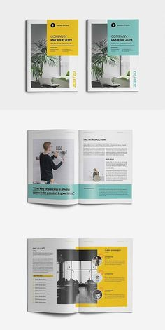 Discover recipes, home ideas, style inspiration and other ideas to try. Page Layout Design, Magazine Layout Design, Book Layout, Design Design, Company Profile Template, Company Profile Design, Corporate Profile, Corporate Business, Business Company