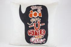 Style and Grace Pillow by Jain&Kriz. 100% linen.
