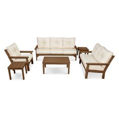 Vineyard 6-Piece Deep Seating Set - Outdoor Living Room - Shop by Space