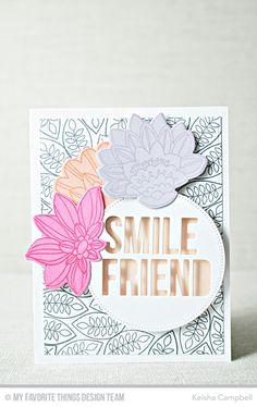 Fancy Flowers Card Kit - Keisha Campbell  #mftstamps
