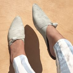 Rilee Shoes // Simple Knot asymmetrical women's pointy modern minimalist boho slip on mules flats // Genuine gray leather // 7.5 8.5 by RileeShoes on Etsy https://www.etsy.com/listing/524990766/rilee-shoes-simple-knot-asymmetrical