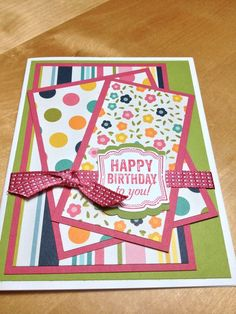 Handmade birthday card ideas with tips and instructions to make Birthday cards yourself. If you enjoy making cards and collecting card making tips, then you'll love these DIY birthday cards! Bday Cards, Kids Birthday Cards, Handmade Birthday Cards, Greeting Cards Handmade, Diy Birthday, Female Birthday Cards, Birthday Design, Birthday Quotes, Cricut Cards