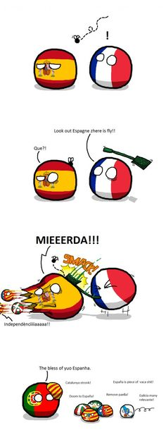 Countryball Spain can't keep it in