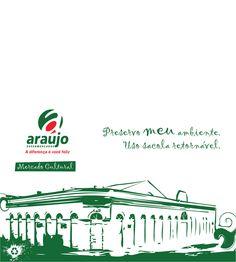 Estampa para bolsa ecológica. Mercado Cultural de Porto Velho-RO