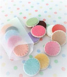15 mini felt food sugar iced easter cookies
