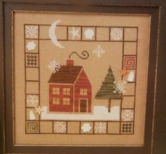 Bent Creek The BORDER HOUSE Pattern Book by CraftyCrossStitches, $4.99