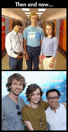 The cast of Napoleon Dynamite then and now