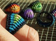 Diy Jewelry : someone should make me on of these macrame rings. ;) | DIY Loop | Leading DIY & Craft inspiration Magazine & Database
