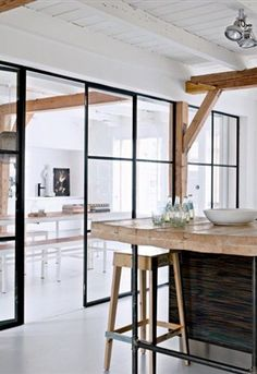 One of my favorite trends in design right now is the use of steel windows and doors. House Design, House, Interior, Dream Decor, Interior Design Kitchen, Home Decor, House Interior, Interior Design, Glass Doors Interior