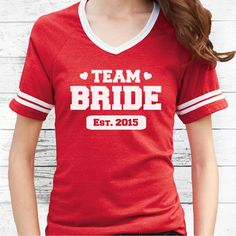 Personalized Team Bride Shirt for Bride & by HitchedClothing