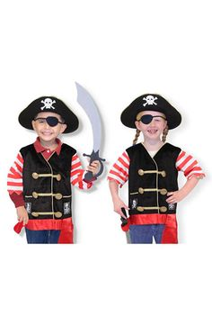Free shipping and returns on Melissa & Doug Pirate Costume (Toddler) at Nordstrom.com. Raise the masts and set sail across the seas while donning your adventure-ready pirate garb.