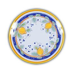 Picnic Alcantara Salad Plate.  Heavy duty Melamine  with Italian pattern and perfect for outdoor dining!