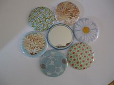 POCKET MIRRORS  6 for 10 dollars  Free Shipping by kathyshandmade, $10.00