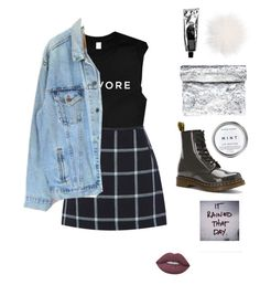 """""""It rained"""" by emilykatephilip on Polyvore featuring Dr. Martens, Oasis, Levi's, Lime Crime and Zilla"""