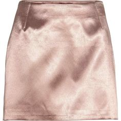 Short Satin Skirt (1,790 PHP) ❤ liked on Polyvore featuring skirts, lined skirt, short skirts, short pink skirt, satin skirt and pink skirt