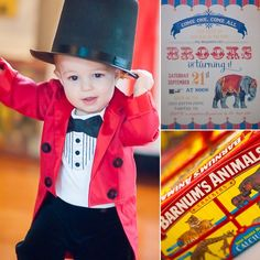 Step Right Up to Brooks's First Birthday Party Under the Big Top