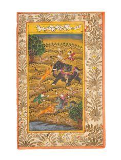 Miniature Indian Art - Shikaar [Framed] on Jaypore.com #painting #hunting #vintage