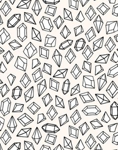 Crystals by Andrea Lauren Art Print by Andrea Lauren Design | Society6