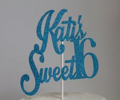 Personalized Glitter Sweet 16 Birthday by PinkPoppyPartyShoppe