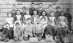 A photograph of a class of children from Ormondville School, Hawke's Bay. Written on the blackboard in front of the children is: Ormondville School, No History, School, Children, Painting, Image, Young Children, Historia, Boys, Kids