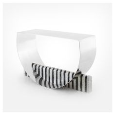 STYLE TABOO| JinSik Kim - HalfHalf console [marble and steel,...
