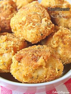 Parmesan Cauliflower Bites Recipe ~ Nutritious-Delicious and perfectly fun after-school snack.