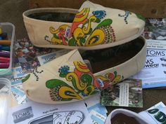 Custom Made Decorative Shoes by LuckiAllie on Etsy, $75.00~~In my interests
