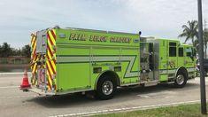 Cool Fire, Green Fire, Fire Equipment, Palm Beach Gardens, Fire Apparatus, Firefighting, Fire Dept, Fire Engine, Fire Trucks