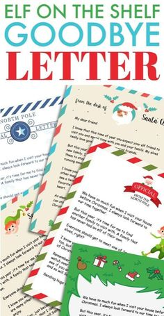20+ Elf on the Shelf Departure Letters– many NEW ideas for this year! #elfontheshelf #departureletters #christmas Elf Letters, Santa Letter, Christmas Time Is Here, Christmas Holidays, Christmas Games, Christmas Ideas, Christmas Tree, The Elf, Elf On The Shelf