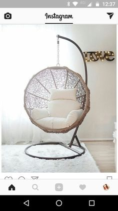 Hanging Swing Chair for Bedroom. Hanging Swing Chair for Bedroom. Indoor Swing Chairs Inspirations for Your Home Decor Hanging Swing Chair, Swinging Chair, Swing Chairs, Indoor Hanging Chairs, Bedroom Swing Chair, Indoor Hammock Chair, Patio Swing, Teen Bedroom Chairs, Chairs For Bedrooms
