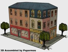 PAPERMAU: Mon Quartier - A French Vintage Paper Model - by Agence Eureka