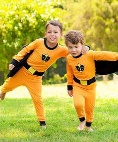 Love this Orange Superhero Fitted Pajamas - Infant & Toddler on #zulily! #zulilyfinds