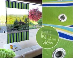 Esta diferente cortina para área externa é linda e sempre faz o maior sucesso (Foto: sew4home.com)