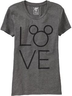 "Womens ""LOVE"" Disney© Mickey Mouse Tees"