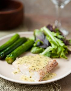* * * * Grouper with Lemon Basil Cream Sauce - This was good. The sauce is SO versatile and would be great also on vegetables like green beans. We love it with white rice!