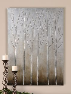 Uttermost 35105 Uttermost Sterling Trees Hand Painted Art