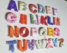 Fabric Alphabet Letters, Perfect For A Quiet Book