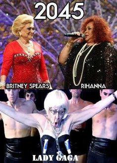 Funny Future Picture - Britney Rihanna Lada Gaga 2045
