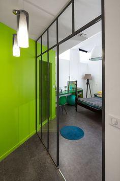 Salon Gris Et Vert Anis