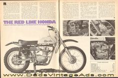 The Red Line Honda – a special XL250 frame – expensive, but the ultimate route for racing applications.