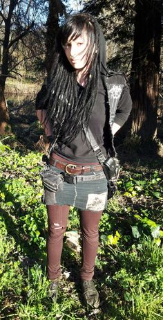 I have lots of love for the crust punk look. It's the kind of thing I would feel comfortable in, because it's not flashy. It's not overly sexualized. But I don't really make the effort (ironic I suppose).