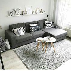 38 Stunning Scandinavian Living Room Design Ideas Nordic Style - Popy Home Tiny Living Rooms, Living Room Modern, Living Room Interior, Home Living Room, Apartment Living, Living Room Decor, Cozy Living, Nordic Living Room, Small Living Room Designs