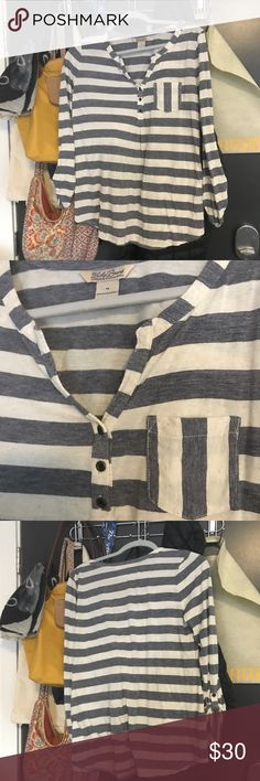 Lucky Brand Striped Tee! Never worn and in great condition! Lucky Brand Tops