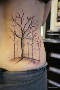 Trees Tattoo on the Lower Back