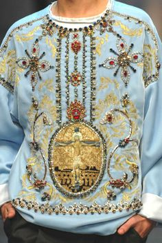 patternprints journal: PRINTS AND EMBROIDERIES WITH RELIGIOUS ICONOGRAPHY INTO DOLCE & GABBANA MEN COLLECTION F/ W 2013/14