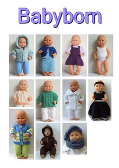 Trendy Sewing Toys For Baby Doll Clothes Sewing Patterns For Kids, Sewing Projects For Kids, Crafts For Kids To Make, Doll Clothes Patterns, Baby Knitting Patterns, Doll Patterns, Free Knitting, Baby Born Clothes, Preemie Clothes