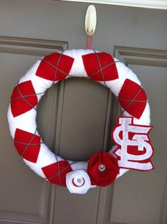St Louis Cardinals Wreath by rissy4382 on Etsy, $40.00