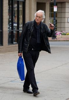 Jimmy Page is seen buying records in Boston.
